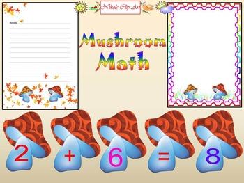 Fall - Math - Mushroom - Number - Frames