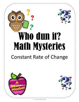 Math Mysteries Constant Rate of Change