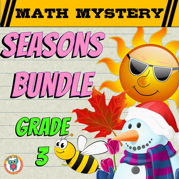 Math Mysteries Seasons Bundle Pack (GRADE 3)