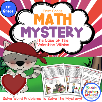 Math Mystery-Case of the Valentine Villains-Grade 1