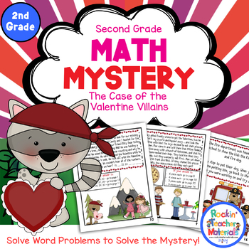 Math Mystery-Case of the Valentine Villains-Grade 2