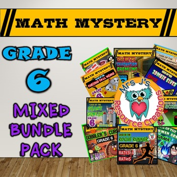 Fun Math Activities: Math Mysteries Mixed Bundle Pack