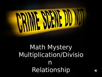 Math Mystery Multiplication/Division Relation