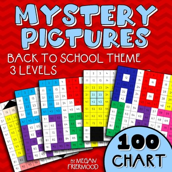 Math Mystery Picture {100 Chart} Back to School Theme *DIF