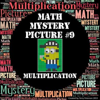 Math Mystery Picture #9 Multiplication