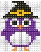 Math Mystery Picture Halloween Owl  Addition Subtraction M