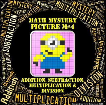 Math Mystery Picture M#4 Addition Subtraction Multiplicati