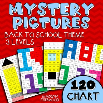 Math Mystery Pictures {120 Chart} Back to School Theme *DI