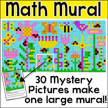 Addition and Subtraction Hidden Picture Math Mural