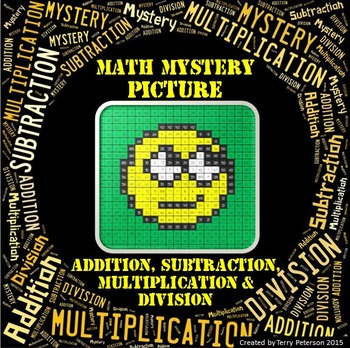 Math Mystery Smiley #2 Picture Addition Subtraction Multip