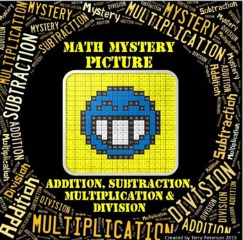 Math Mystery Smiley #3 Picture Addition Subtraction Multip