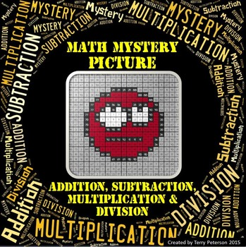 Math Mystery Smiley #9 Picture Addition Subtraction Multip
