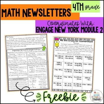 Math Newsletter & Game 4th Grade Module 2 Engage New York/