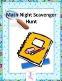 Math Night Scavenger Hunt