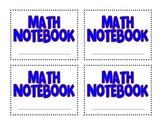 Math Notebook Cover Freebie