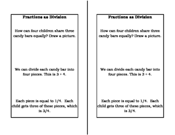 Math Notebook: Fractions as Division