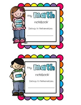 Math Notebook Label