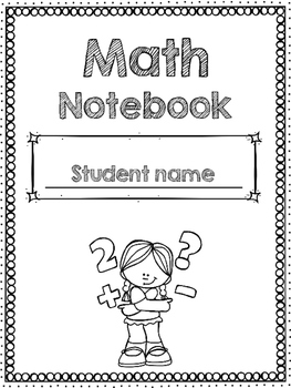 Math Notebook cover-Editable!