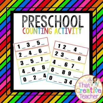 Math Number Counting Activity
