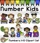 Math Number Kids - Clip Art
