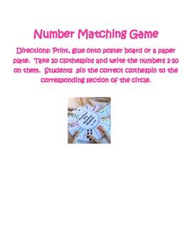 Math - Number Matching Game