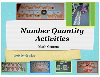 Number Quantity Activity Pack Prek-1st grades