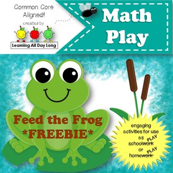 Math Play: Feed the Frog! (Number Recognition and Counting)