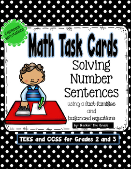 Math Number Sense Task Cards- Grades 2 and 3