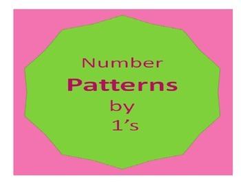 Math Number patterns by 1's (5pgs) Common Core Cscope