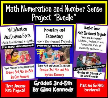 Math Numeration Enrichment Projects Bundle, Multiplication