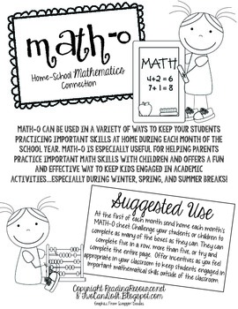 Math-O (Home-School Math Connection)