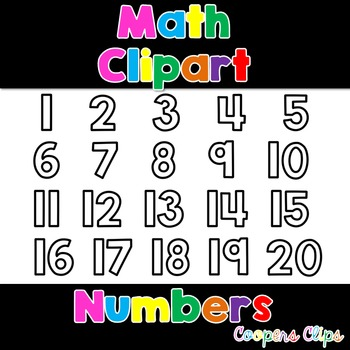 Math: Open Filled Numbers Clipart