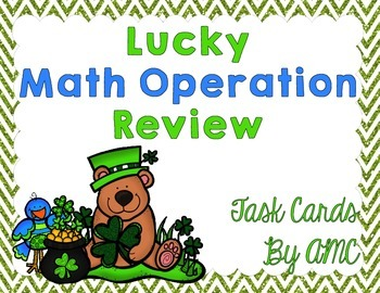 Math Operation Review Task Cards