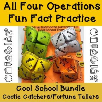 Math Facts Practice (all four operations) Cootie Catchers Bundle