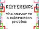 Math Operations Vocabulary