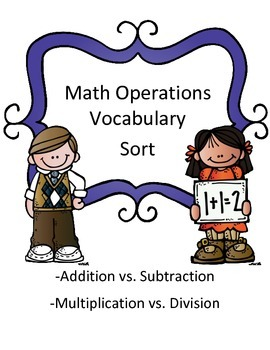 Math Operations Vocabulary Sort