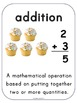 Common Core Math Operations Word Wall and Sentence Frames