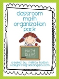 Math Organization Pack