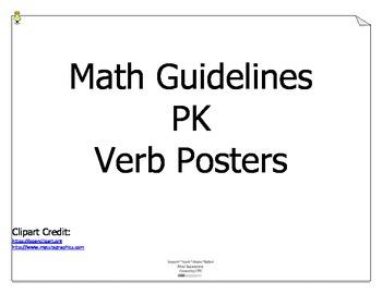 Math PK Guidelines (Texas) Verbs