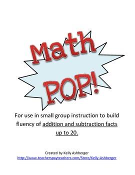 Math POP!  Adding up to 20