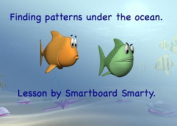 Math Patterns Kindergarten, First Grade  Smartboard Lesson