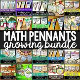 Math Pennants Growing Bundle