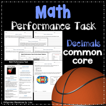 Math Performance Task - Real World Decimals