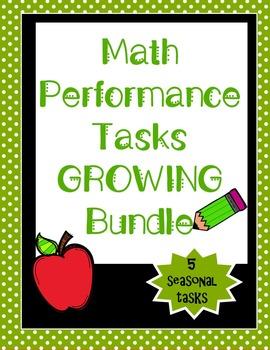 Math Performance Task {GROWING Bundle}