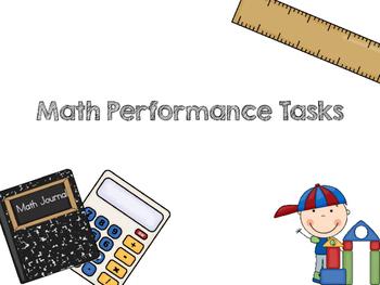 Math Performance Tasks/Activities