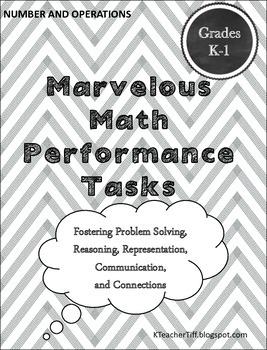 Math Performance Tasks for Kindergarten and First Grade