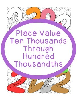 Math Place Value Practice Ten Thousands Through Hundred Th