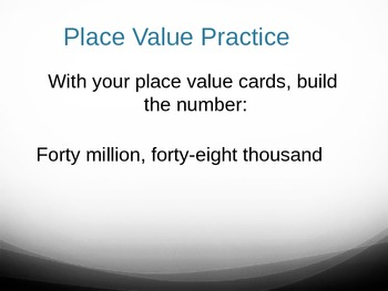 Math Place Value, Whole Numbers to Millions Practice