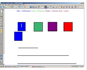 Math Place Value and numbers smartboard activities