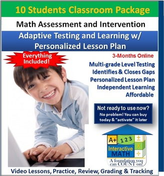 """""""A+"""" Math Placement Test-Adaptive Learning w/ Personalized"""
